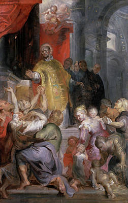 Ignatius Painting - The Miracles Of Saint Ignatius Of Loyola by Peter Paul Rubens