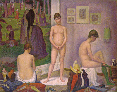 Women Painting - The Models by Georges Seurat