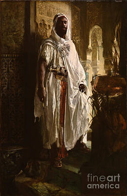 Orientalist Painting - The Moorish Chief by Eduard Charlemont