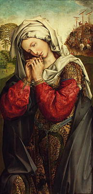 Mary Magdalene Painting - The Mourning Mary Magdalene by Colijn de Coter