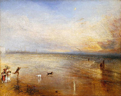 Coastline Painting - The New Moon by JMW Turner