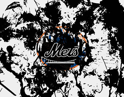 Oriole Mixed Media - The New York Mets by Brian Reaves