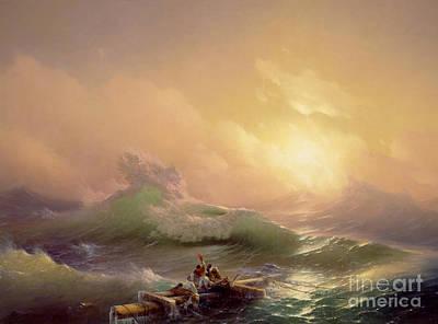 Adrift Painting - The Ninth Wave by Ivan Konstantinovich Aivazovsky