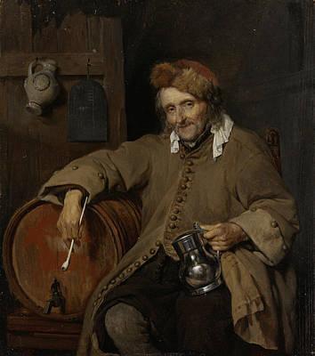 Pipe Painting - The Old Drinker by Gabriel Metsu