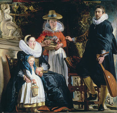 Puppy Painting - The Painter's Family by Jacob Jordaens