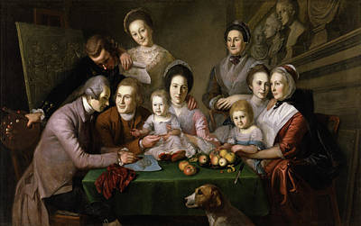 Charles Willson Peale Painting - The Peale Family by Charles Willson Peale