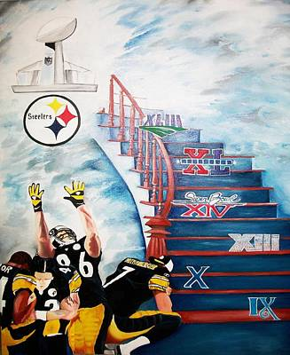 Pittsburgh Steelers Painting - The Quest by Charis Kelley