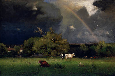 George The Painter Painting - The Rainbow  by George Inness