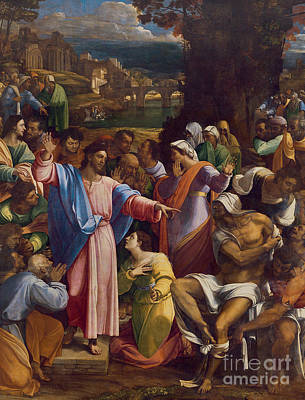 Martha Mary Painting - The Raising Of Lazarus by Sebastiano del Piombo