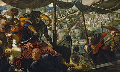 Mannerism Painting - The Rape Of Helen by Tintoretto