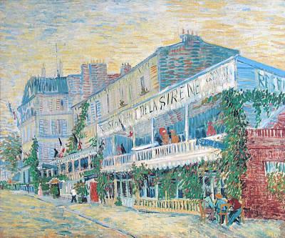 Bistro Painting - The Restaurant De La Sirene At Asnieres by Vincent van Gogh