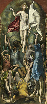 Mannerism Painting - The Resurrection by El Greco
