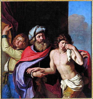Giovanni Francesco Barbieri Painting - The Return Of The Prodigal Son by MotionAge Designs