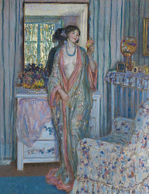 Frederick Carl Frieseke Painting - The Robe by Frederick Carl Frieseke