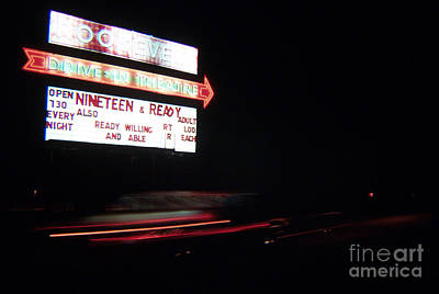 The Roosevelt Drive Inn Print by Corky Willis Atlanta Photography