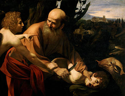 The Sacrifice Of Isaac Print by Caravaggio