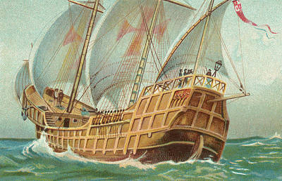 Explorer Drawing - The Santa Maria by English School