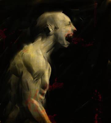 Nosferatu Digital Art - The Scream by H James Hoff