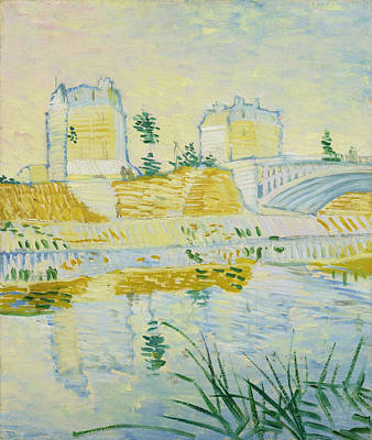 Crossing Painting - The Seine With The Pont De Clichy by Vincent van Gogh