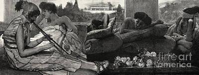The Siesta Print by Sir Lawrence Alma-Tadema