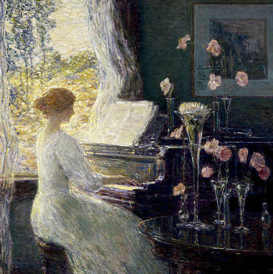 The Sonata Print by Childe Hassam