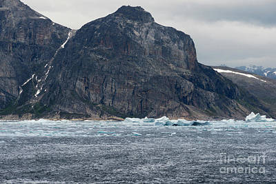 Nature Photograph - The Southwest Coastline Of Greenland Surrounded By Icy Waters by Dani Prints and Images
