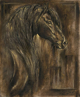 The Spirit Of A Horse Print by Paula Collewijn -  The Art of Horses