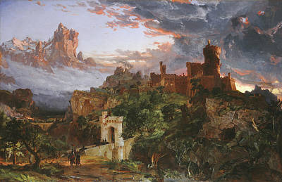 Knights Castle Painting - The Spirit Of War by Jasper Francis Cropsey