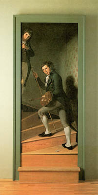 Peale Painting - The Staircase Group by Charles Willson Peale