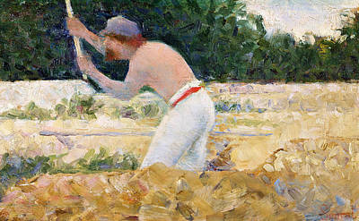 Hammer Painting - The Stone Breaker by Georges Pierre Seurat
