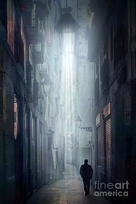 Suburban Digital Art - The Street by Svetlana Sewell