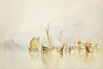 Perspective Painting - The Sun Of Venice by JMW Turner