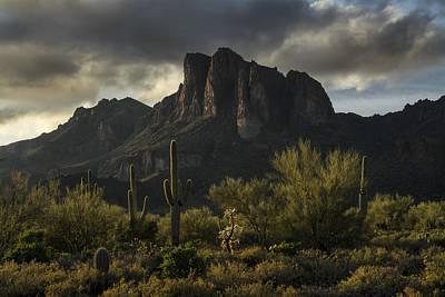 Rainy Day Photograph - The Superstition Wilderness  by Saija Lehtonen