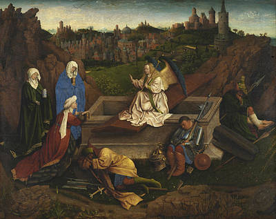 Cross Painting - The Three Marys At The Tomb by Jan van Eyck