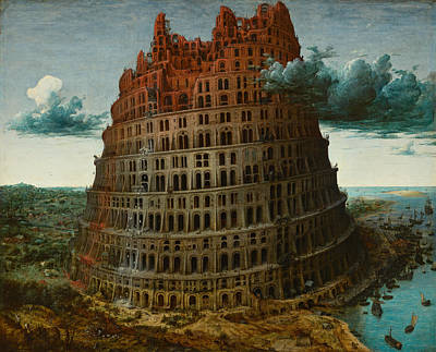 Babel Painting - The Tower Of Babel by Pieter Bruegel the Elder