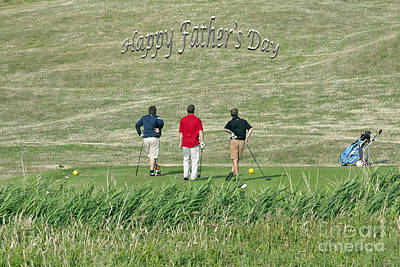 The Trials And Tribulations Of Golf Card Print by Terri Waters