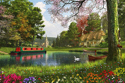 Canals Digital Art - The Valley Cottage Variant 1 by Dominic Davison
