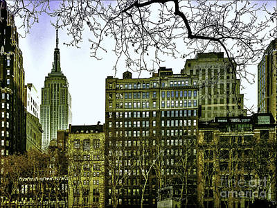 The View From Bryant Park Print by Gemblue Photography