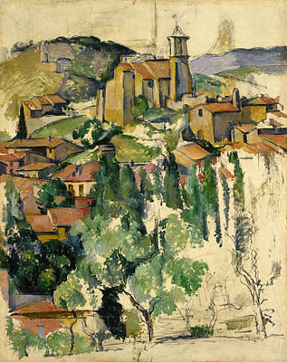 Architectural Painting - The Village Of Gardanne by Paul Cezanne