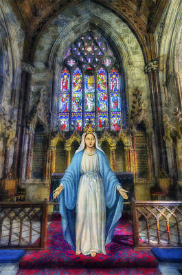 The Virgin Mary Print by Ian Mitchell