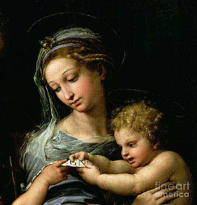 Mother Of God Painting - The Virgin Of The Rose by Raphael