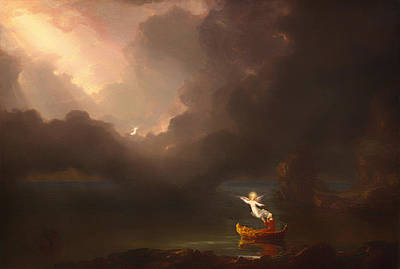 Old Age Painting - The Voyage Of Life - Old Age by Thomas Cole