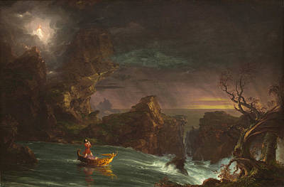 The Voyage Of Life Print by Thomas Cole