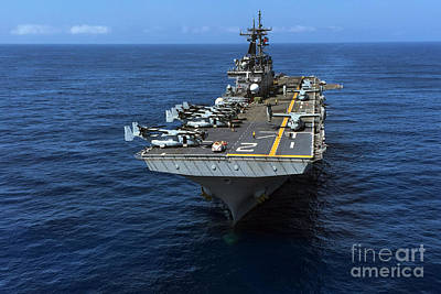 U.s. Navy Painting - The Wasp-class Amphibious Assault Ship  by Celestial Images