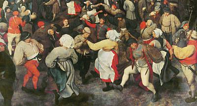 Bagpipes Painting - The Wedding Dance by Pieter the elder Bruegel