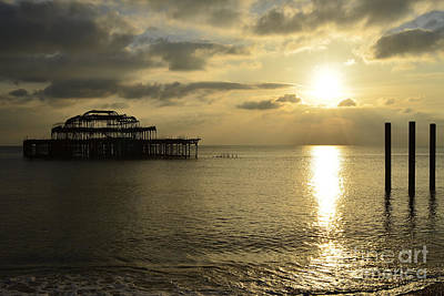The West Pier Print by Stephen Smith