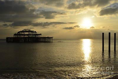 Brighton Photograph - The West Pier by Nichola Denny