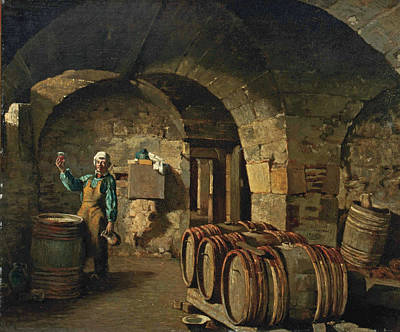 Hector Hanoteau Painting - The Wine Taster by Hector Hanoteau