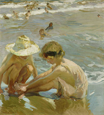 Vintage Painting - The Wounded Foot by Joaquin Sorolla y Bastida