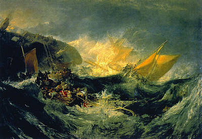 Boating Painting - The Wreck Of A Transport Ship by JMW Turner